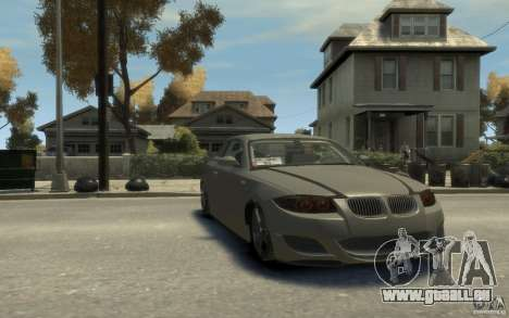 BMW 135i für GTA 4 Rückansicht