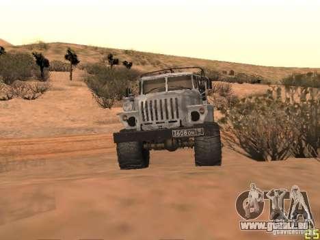 Oural-43206 hiver Camo pour GTA San Andreas laissé vue