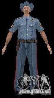 Pelliplacage remplace PD, armée et une peau du F pour GTA San Andreas quatrième écran