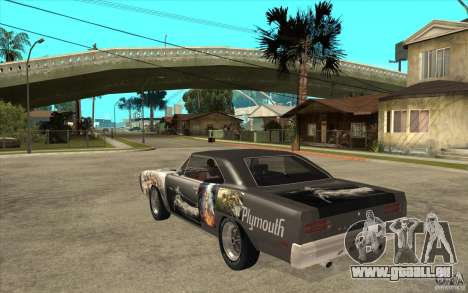 Plymouth Roadrunner Superbird Custom für GTA San Andreas zurück linke Ansicht
