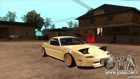 Mazda Miata JDM pour GTA San Andreas vue arrière