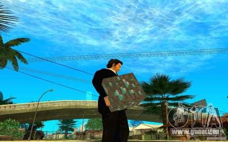 Minerai de diamant provenant du jeu Minecraft pour GTA San Andreas deuxième écran