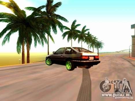Toyota Corolla Carib AE86 pour GTA San Andreas laissé vue