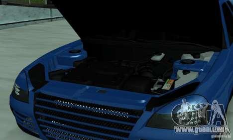 Lada Priora 2012 pour GTA San Andreas vue intérieure