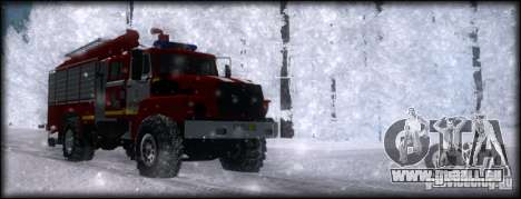 Ural 43206 AC 3.0-40 pour GTA San Andreas vue de droite