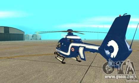 EC-135 Gendarmerie für GTA San Andreas rechten Ansicht
