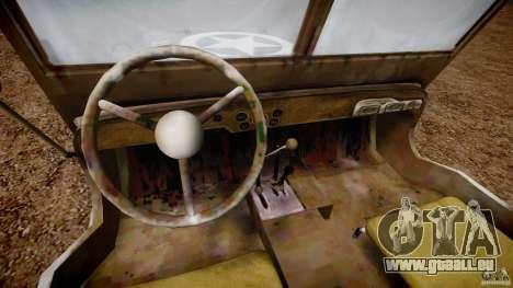 Jeep Willys [Final] pour GTA 4 Vue arrière