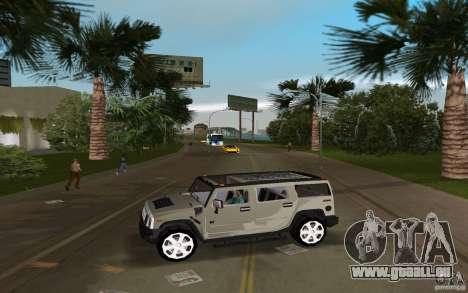 AMG H2 HUMMER pour une vue GTA Vice City de la gauche