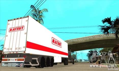 Trailer Magnit pour GTA San Andreas sur la vue arrière gauche