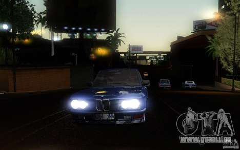 BMW E28 525e ShadowLine Stock pour GTA San Andreas vue intérieure