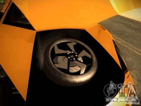 Lamborghini Reventon für GTA San Andreas Innenansicht