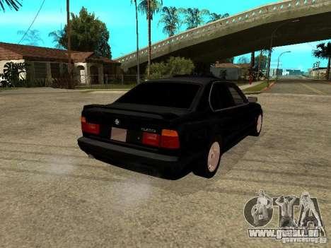 BMW e34 525 pour GTA San Andreas sur la vue arrière gauche