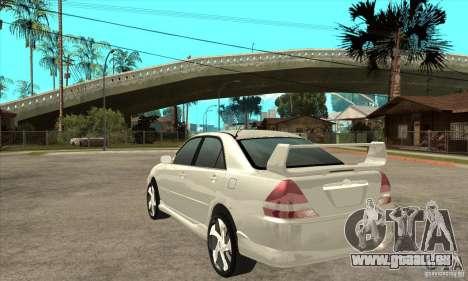 Toyota Mark 2 Grenade pour GTA San Andreas sur la vue arrière gauche