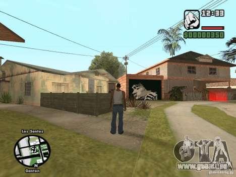 Nouvelle Džonsonov maison pour GTA San Andreas troisième écran