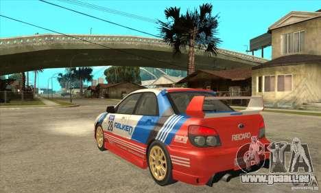 Subaru Impreza WRX STI 2006 für GTA San Andreas Rückansicht