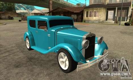 Ford A 1928 Hotrod pour GTA San Andreas vue arrière