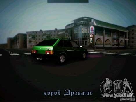 VAZ 2109 kurz-Kryloe Taxi für GTA San Andreas rechten Ansicht