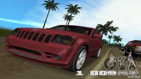 Jeep Grand Cherokee für GTA Vice City Rückansicht