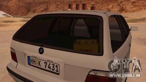 BMW M3 E36 Touring pour GTA San Andreas vue intérieure
