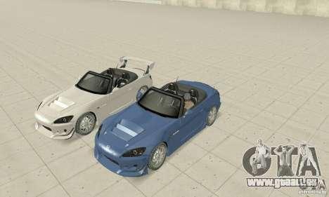 Honda S2000 Cabrio West Tuning pour GTA San Andreas vue de côté