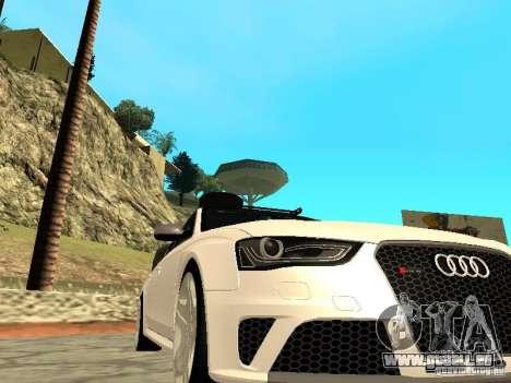 Audi RS4 Avant B8 2013 pour GTA San Andreas vue de droite