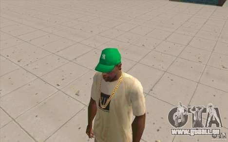 Newyorkyankiys Cap Grün für GTA San Andreas