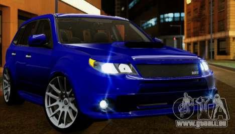 Subaru Forester RRT sport 2008 für GTA San Andreas obere Ansicht