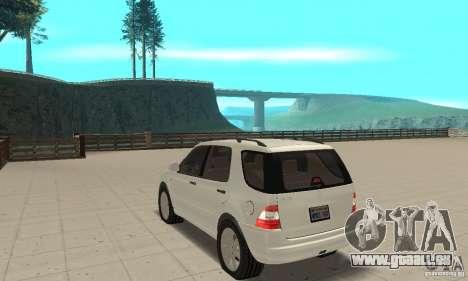 Mercedes-Benz ML 430 pour GTA San Andreas sur la vue arrière gauche
