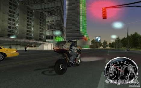 Ducati 1098R pour GTA San Andreas sur la vue arrière gauche
