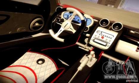 Pagani Zonda Tricolore V2 pour GTA San Andreas vue de dessus
