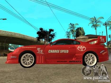 Toyota Supra Chargespeed für GTA San Andreas linke Ansicht