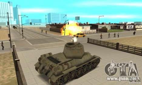 Réservoir T-34-85 pour GTA San Andreas vue de droite
