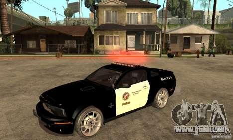 Shelby GT500KR Edition POLICE für GTA San Andreas