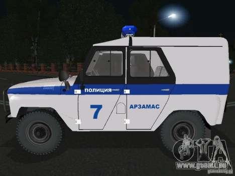 UAZ-31512 Polizei für GTA San Andreas linke Ansicht
