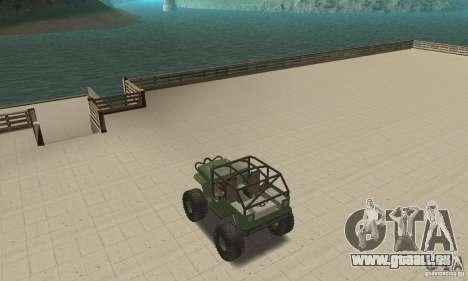 Jeep Willys Rock Crawler pour GTA San Andreas vue intérieure