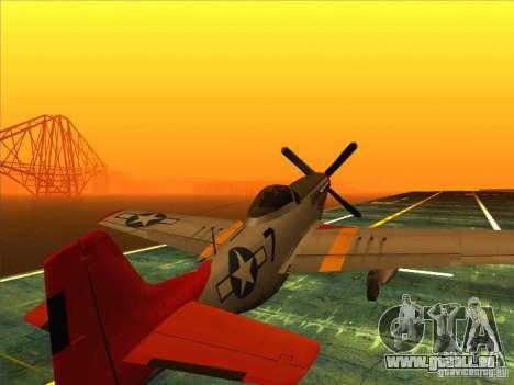 P51D Mustang Red Tails pour GTA San Andreas laissé vue