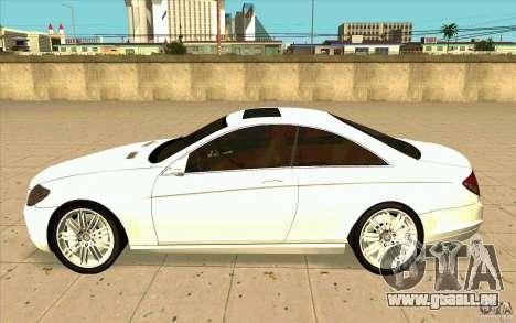 Mercedes Benz CL 500 für GTA San Andreas linke Ansicht