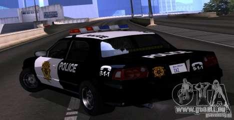 NFS Undercover Police Car pour GTA San Andreas laissé vue