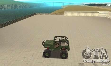 Jeep Willys Rock Crawler pour GTA San Andreas vue arrière
