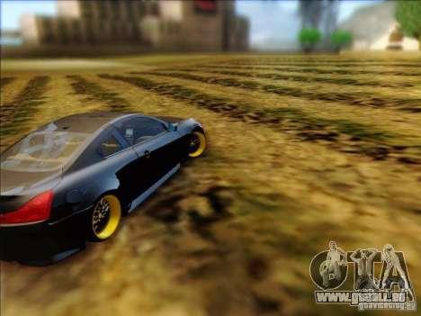 Infiniti G37 HellaFlush pour GTA San Andreas vue de droite