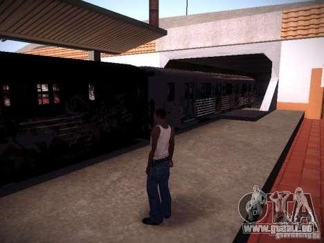Der Zug aus GTA IV für GTA San Andreas linke Ansicht