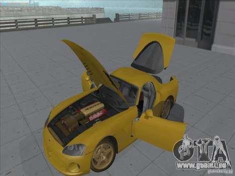Dodge Viper SRT-10 (or Viper) pour GTA San Andreas vue de droite