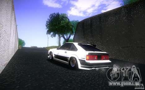 Toyota Supra Drift pour GTA San Andreas vue arrière
