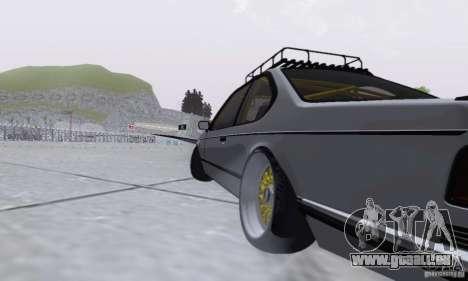 BMW M635CSi Stanced für GTA San Andreas Rückansicht