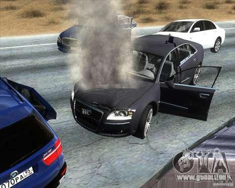 Audi A8L W12 für GTA San Andreas rechten Ansicht