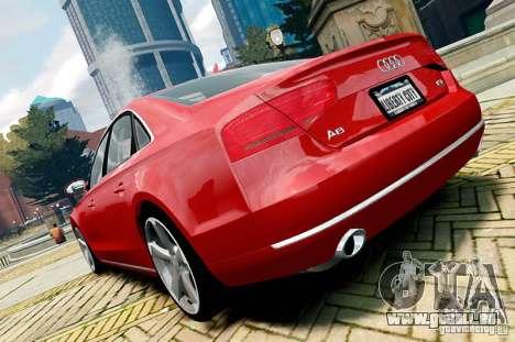 Audi A8 2010 V8 FSI für GTA 4 rechte Ansicht