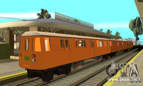 Liberty City Train CP pour GTA San Andreas sur la vue arrière gauche