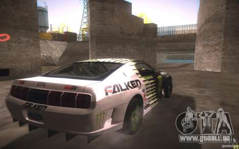 Ford Mustang Monster Energy pour GTA San Andreas vue arrière