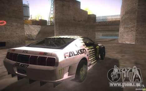 Ford Mustang Monster Energy für GTA San Andreas Rückansicht