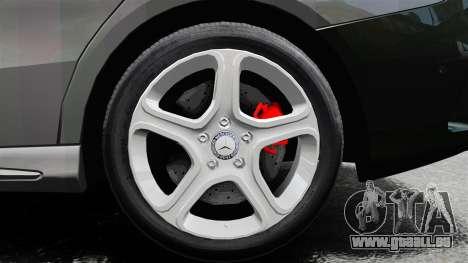 Mercedes-Benz CLA 250 2014 pour GTA 4 est une vue de l'intérieur